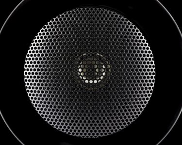 Closeup of music speakers membrane