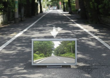 Flat TV placed on street