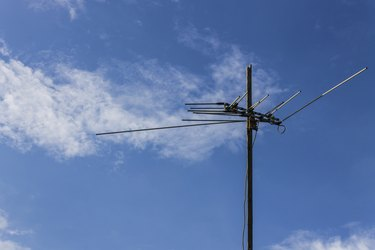 Old style television antenna