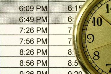 clock and schedule