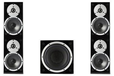 Pair of music speakers and subwoofer