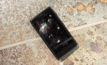 Smartphone with Cracked Display