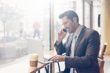 BusinessmanHaving a coffee break
