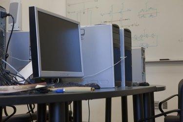 Interiors of a computer lab