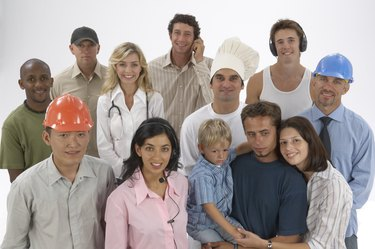 Diverse group of people with variety of occupations