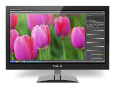 TFT LCD monitor with photo editing software