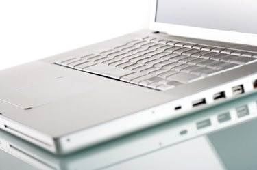 Isolated modern laptop