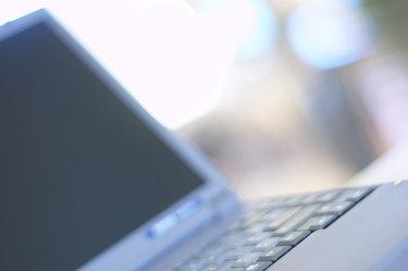 Close up of laptop computer screen