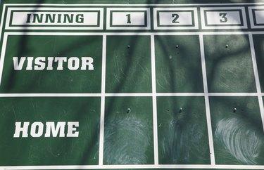 Old Fashioned Baseball Scoreboard