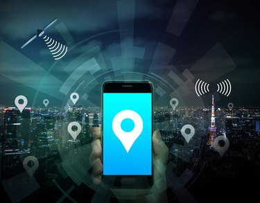 smart city and smart phone application using location information