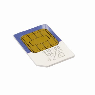 Close up of a mobile phone sim card