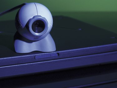 Video conference camera and laptop