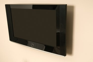Television mounted on wall