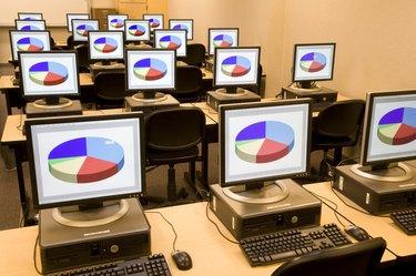 Computers in high school classroom
