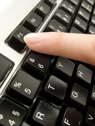 clicking in the F5 key for refresh