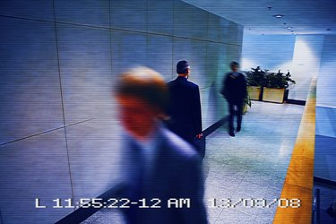 View from surveillance camera