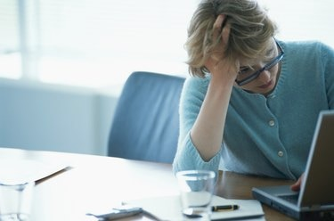 Businesswoman under stress