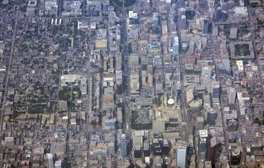 Toronto downtown, Aerial view