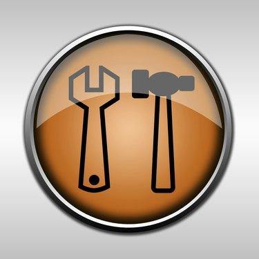 Orange glossy repair button