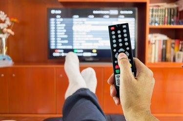 watching tv programming