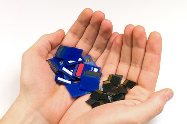MicroSD and SD memory cards