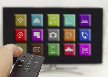 press the on/off button, smart tv with apps