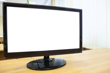 Screen monitor with white isolated background