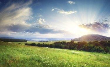 Beautiful landscape panorama.