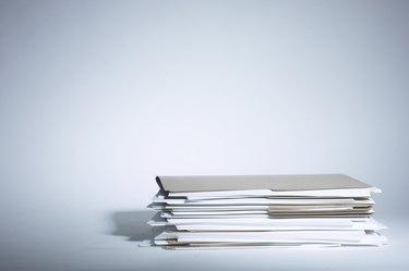 Pile of file folders