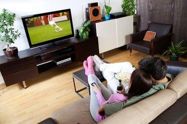 Couple watching sport