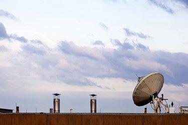 Satellite Dish on Rooftop