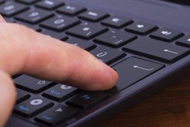 Finger on Enter Key