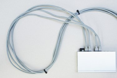 Wires connected to modem