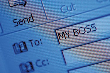 Close-up of a email address on a computer screen