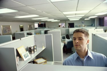 Businessman standing in an office