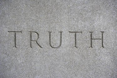Word etched in stone