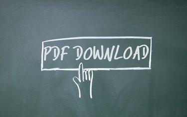 finger click PDF download symbol