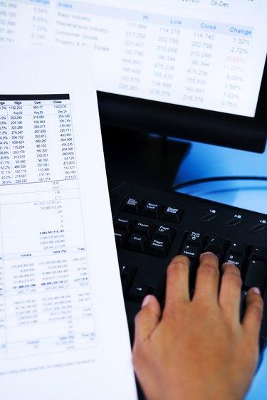Checking financial data