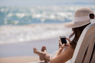 Social networking at the beach