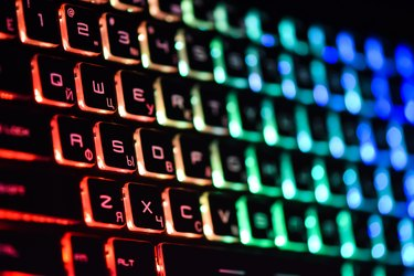 Laptop keyboard with backlight