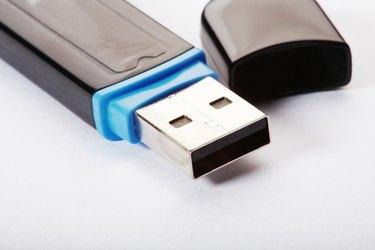 Close up of usb flash drive, close-up