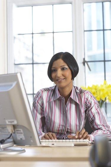 businesswoman at computer