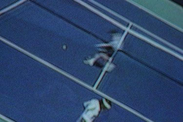 Tennis match on television