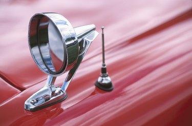 Mirror of vintage car