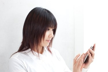 Businesswoman using a smartphone