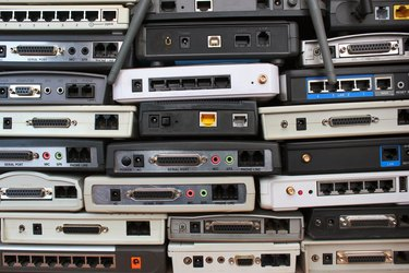 Old modems, routers, network equipment.