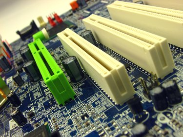 computer motherboard detail