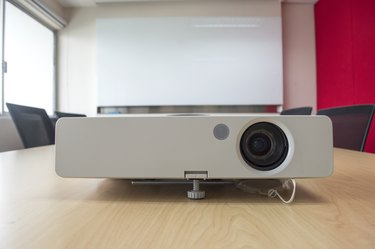 projector presentation in meeting room