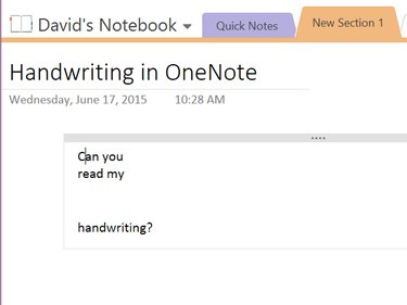 Handwriting converted to text in OneNote.