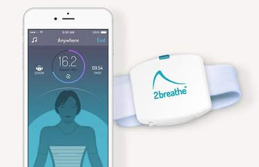 2Breathe app and sensor.